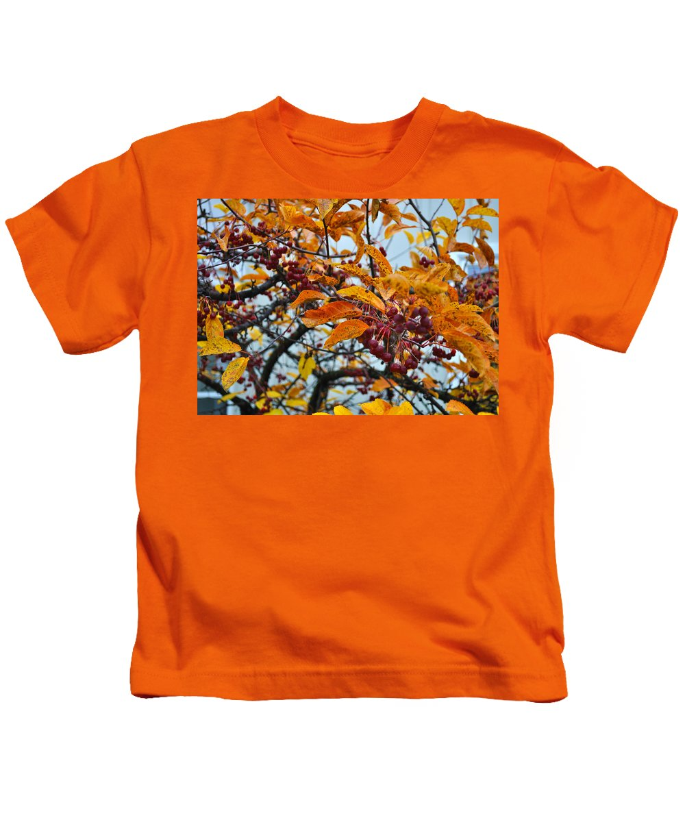 Berries Kids T-Shirt featuring the photograph Fall Berries by Tim Nyberg