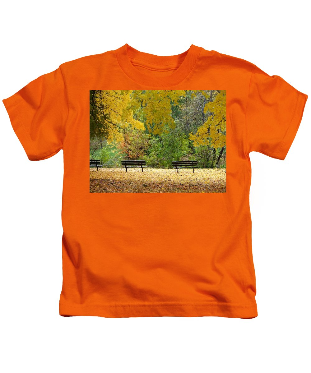 Fall Kids T-Shirt featuring the photograph Fall Series 12 by Anita Burgermeister