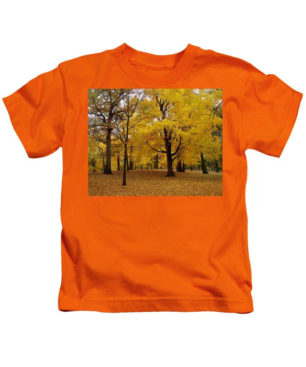 Fall Kids T-Shirt featuring the photograph Fall Series 5 by Anita Burgermeister