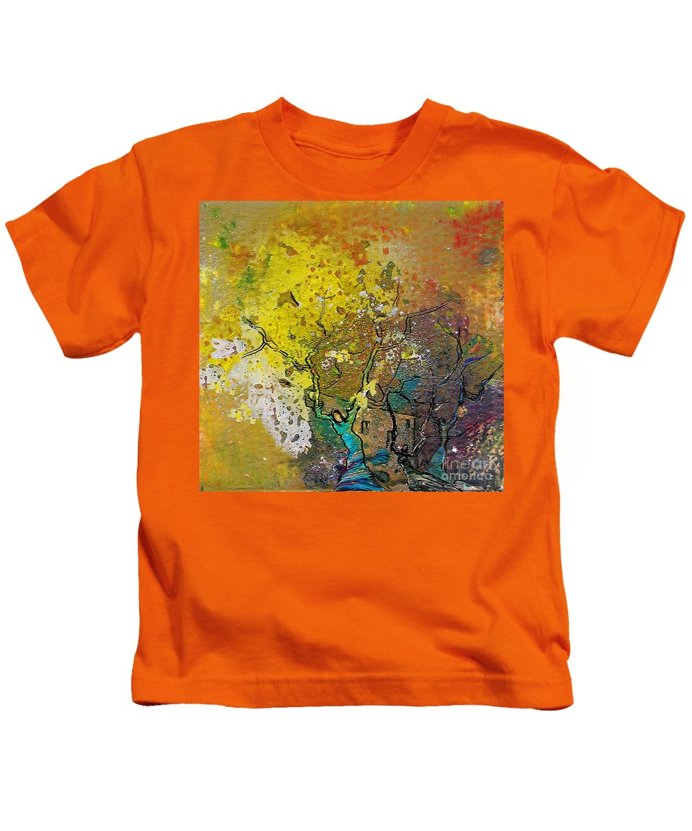 Miki Kids T-Shirt featuring the painting Fantaspray 13 1 by Miki De Goodaboom