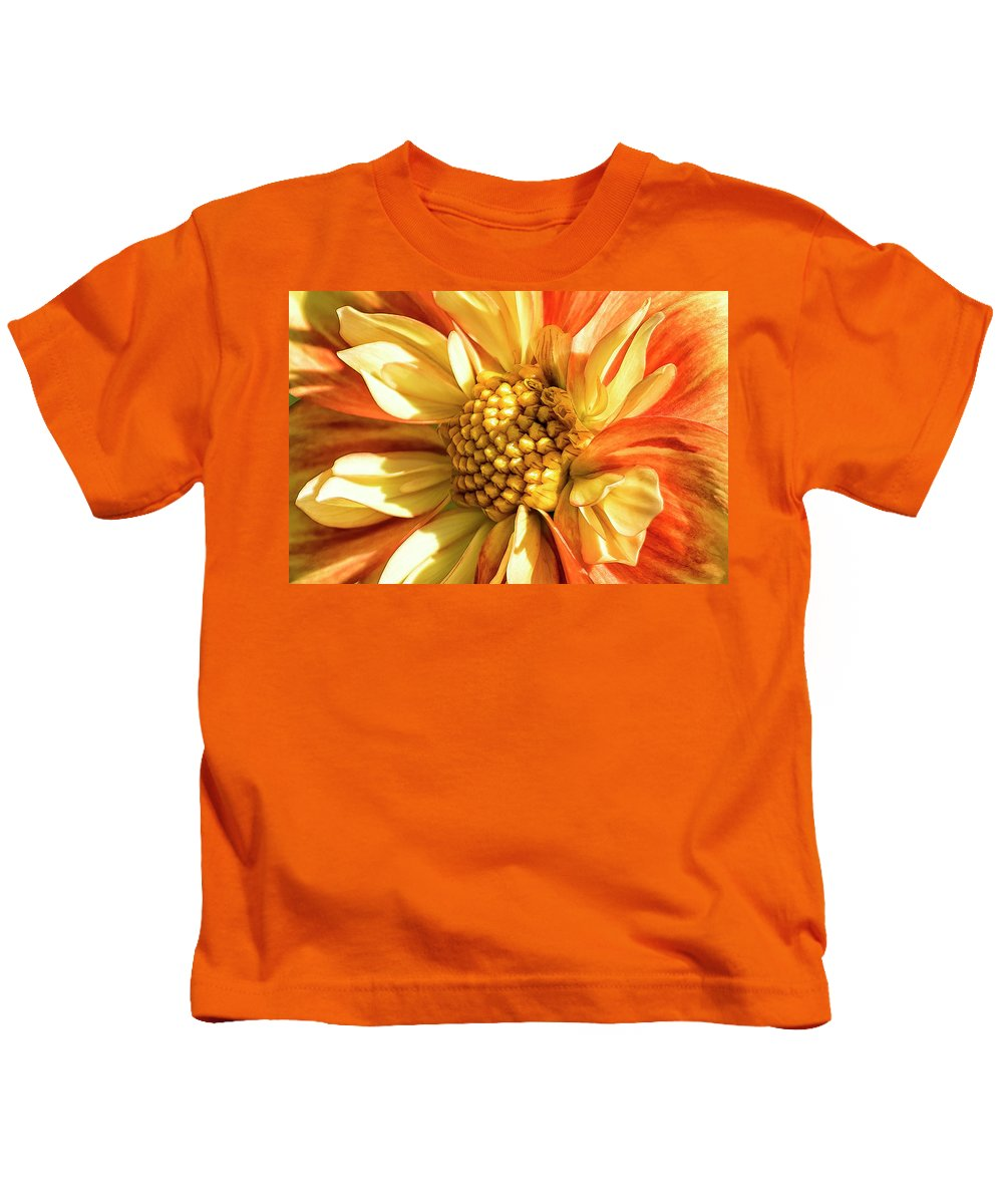 Dahlia Kids T-Shirt featuring the photograph Fearless by Belinda Greb