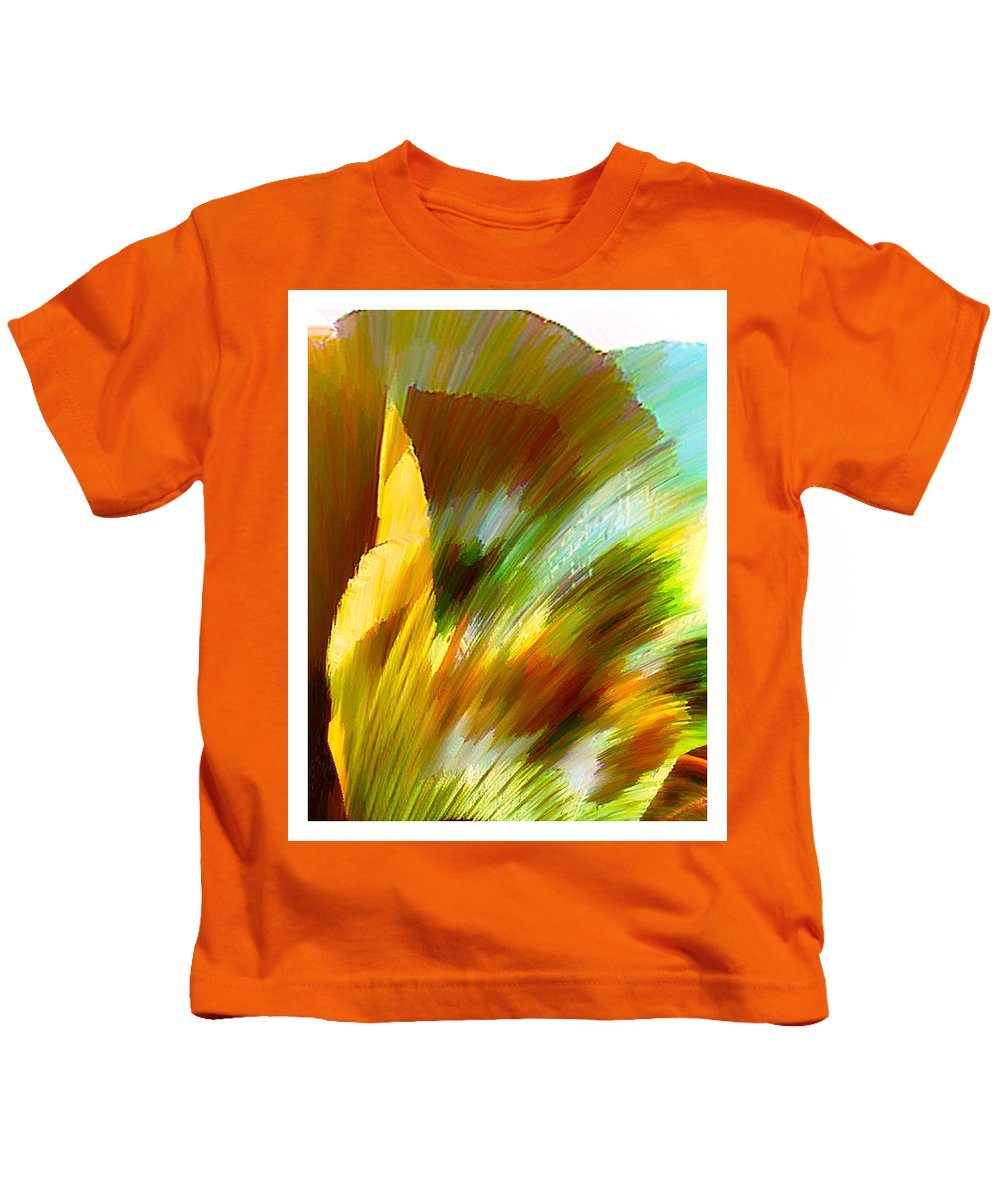 Landscape Digital Art Watercolor Water Color Mixed Media Kids T-Shirt featuring the digital art Feather by Anil Nene
