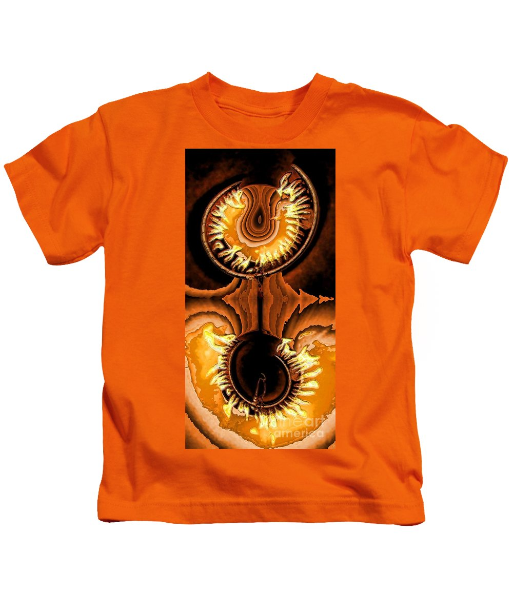 Collage Kids T-Shirt featuring the digital art Fired Up by Ron Bissett