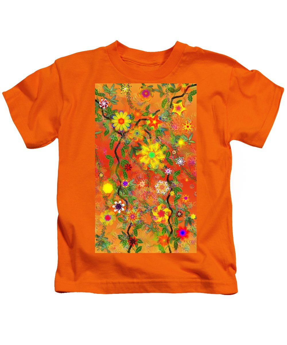 Floral Kids T-Shirt featuring the digital art Floral Fantasy 122110 by David Lane