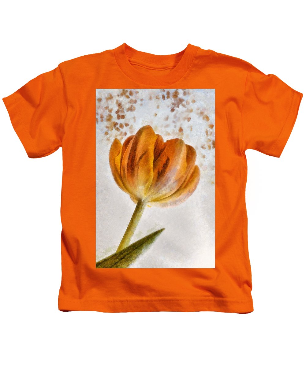 Bloom Kids T-Shirt featuring the painting Flower - Id 16235-142750-0708 by S Lurk