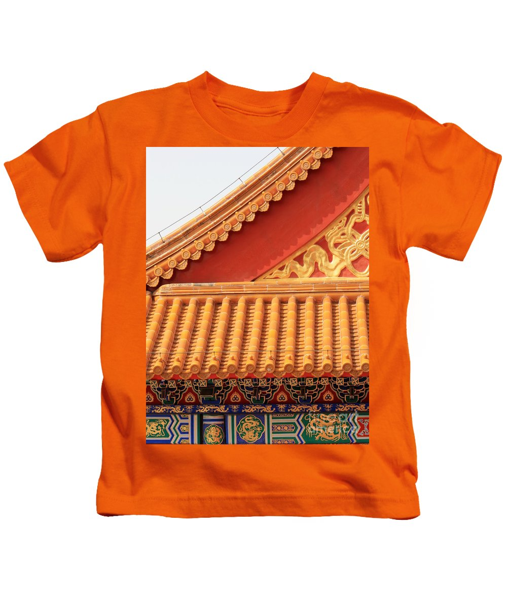 Roofs Kids T-Shirt featuring the photograph Rooftop Splendor by Carol Groenen
