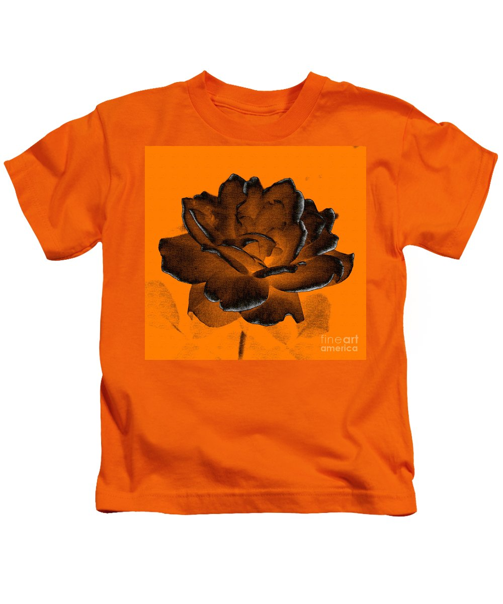 Rose Kids T-Shirt featuring the photograph Forced Into Shape by Amanda Barcon