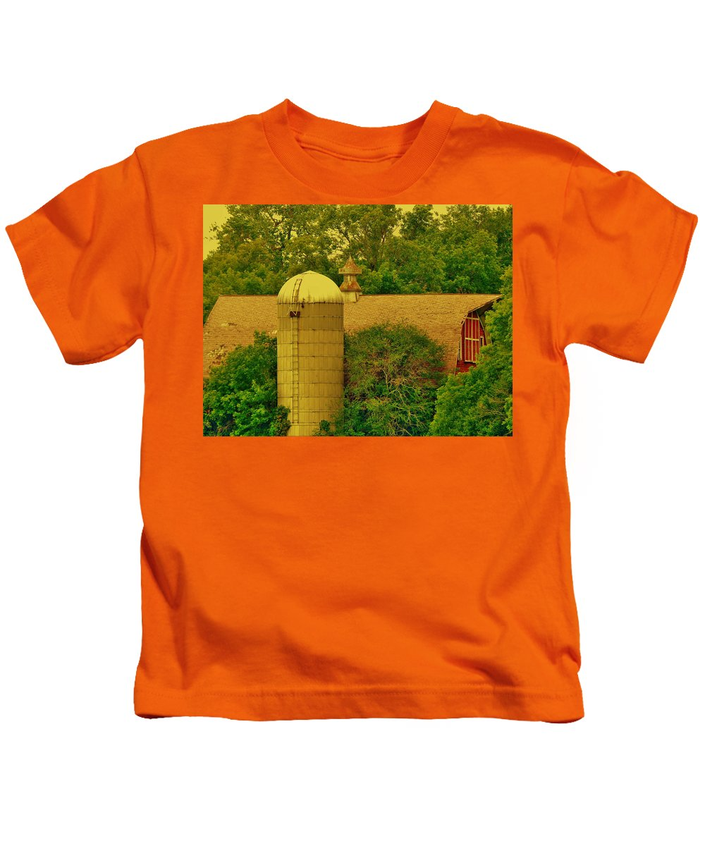 Barn Kids T-Shirt featuring the photograph Fortress by Curtis Tilleraas