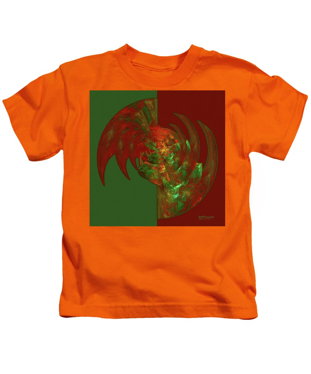 Fractal Kids T-Shirt featuring the digital art Fractal Grasp by Diane Parnell