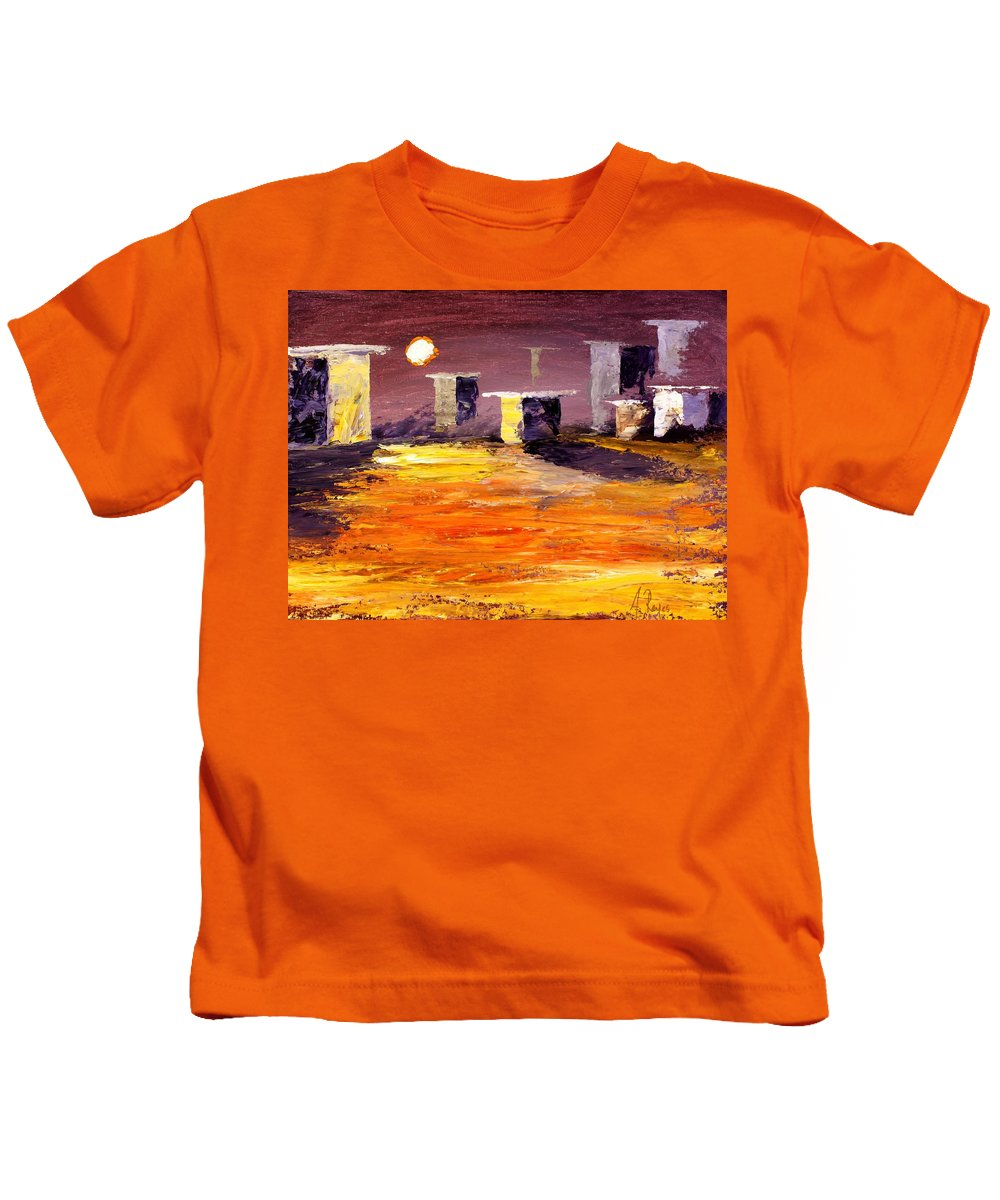 Fragile Kids T-Shirt featuring the painting Fragile Structures by Angel Reyes