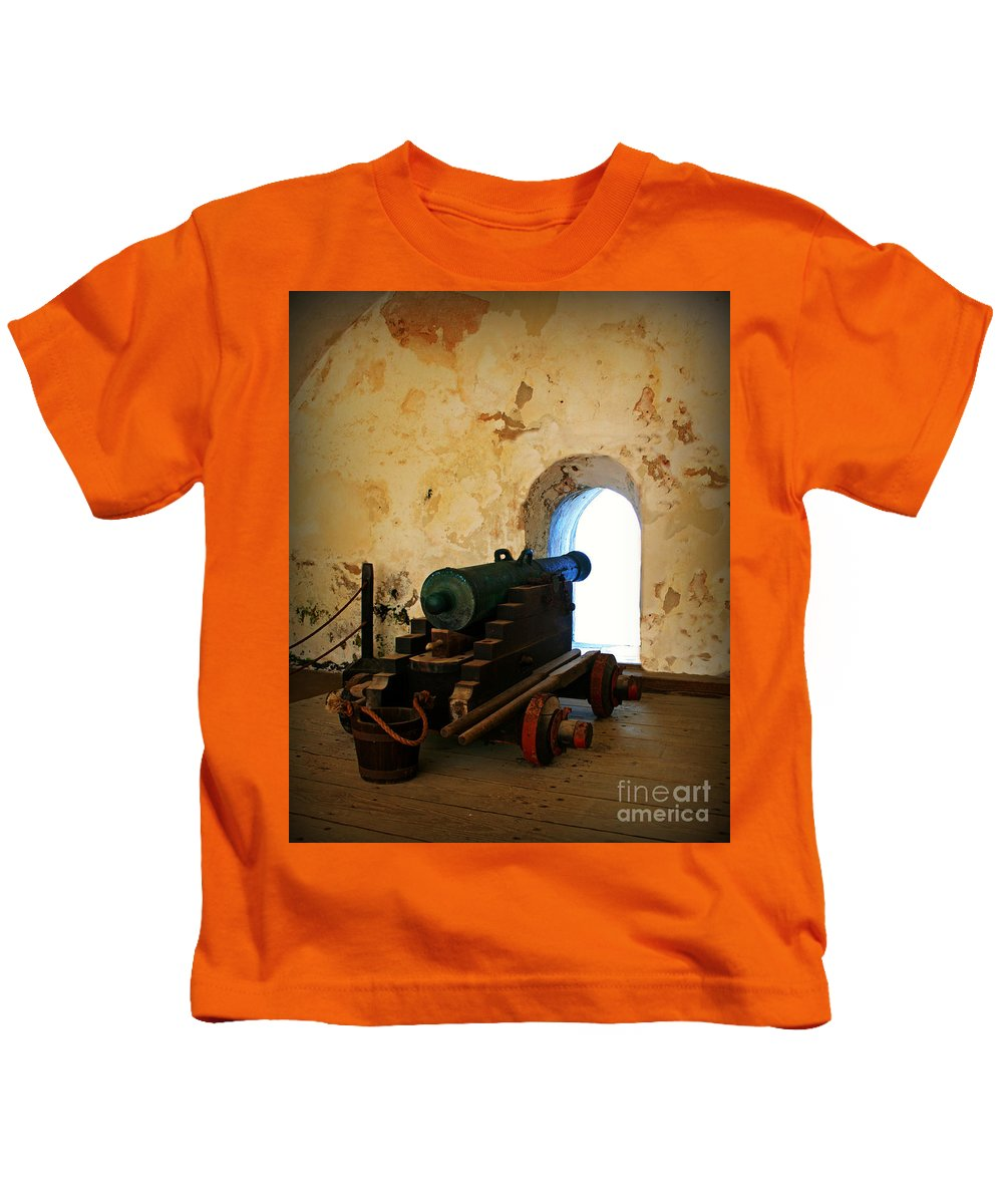 Fort Kids T-Shirt featuring the photograph From The Fort by Perry Webster