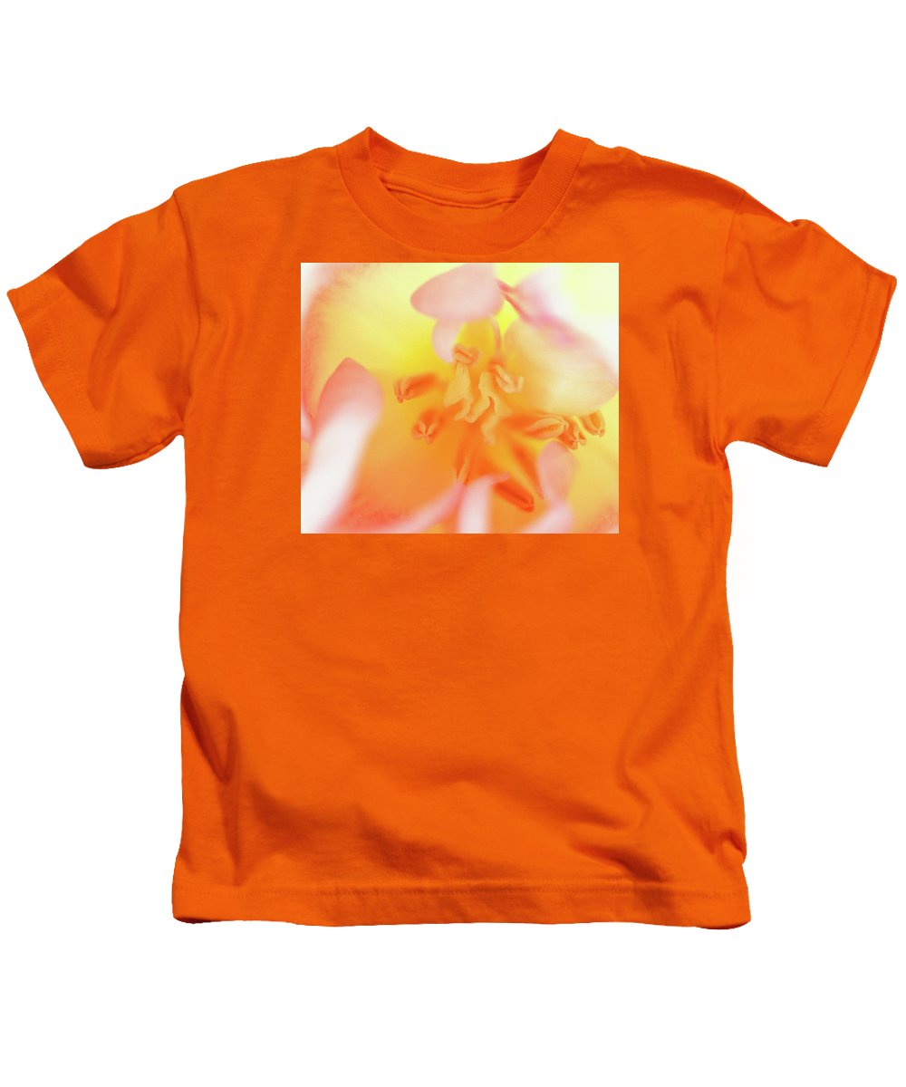 Internal Beauty Of A Tulip Kids T-Shirt featuring the photograph From The Heart by Bill Morgenstern