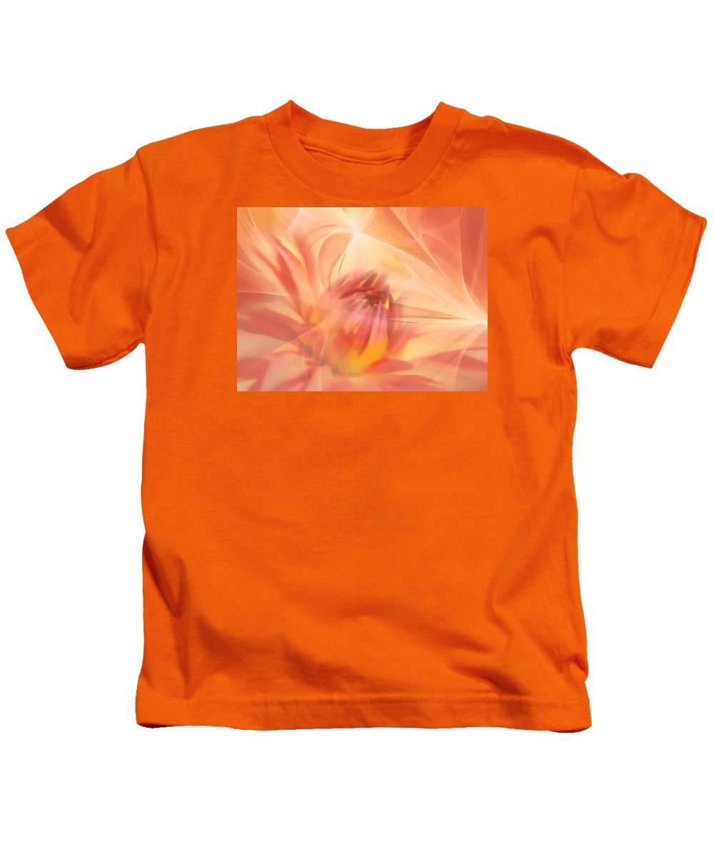 Flower Kids T-Shirt featuring the mixed media Ghost Of Ophelia by Georgiana Romanovna