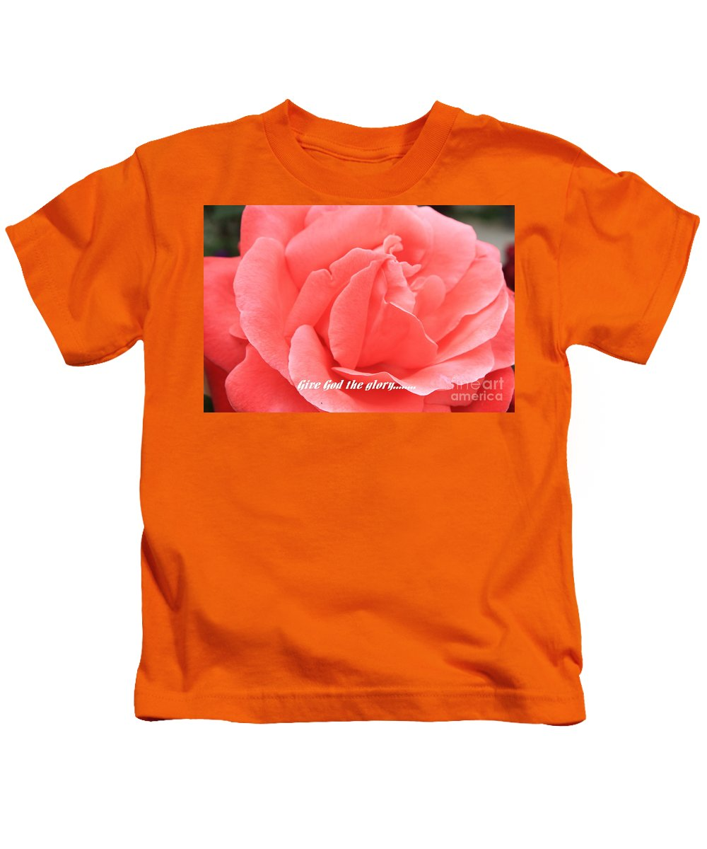 Rose Kids T-Shirt featuring the photograph Give God The Glory by Carol Groenen