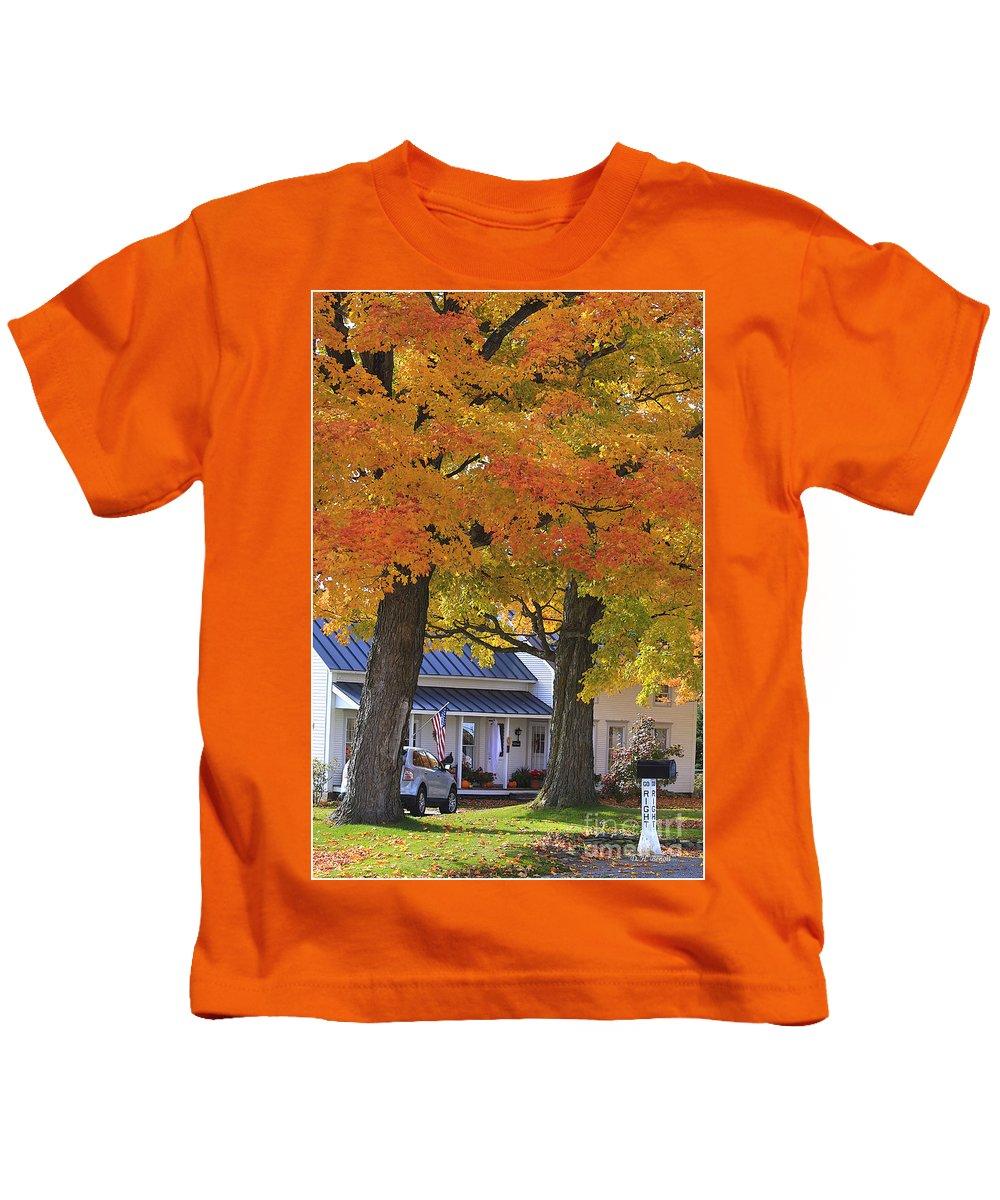 Fall Kids T-Shirt featuring the photograph Go Right Please by Deborah Benoit