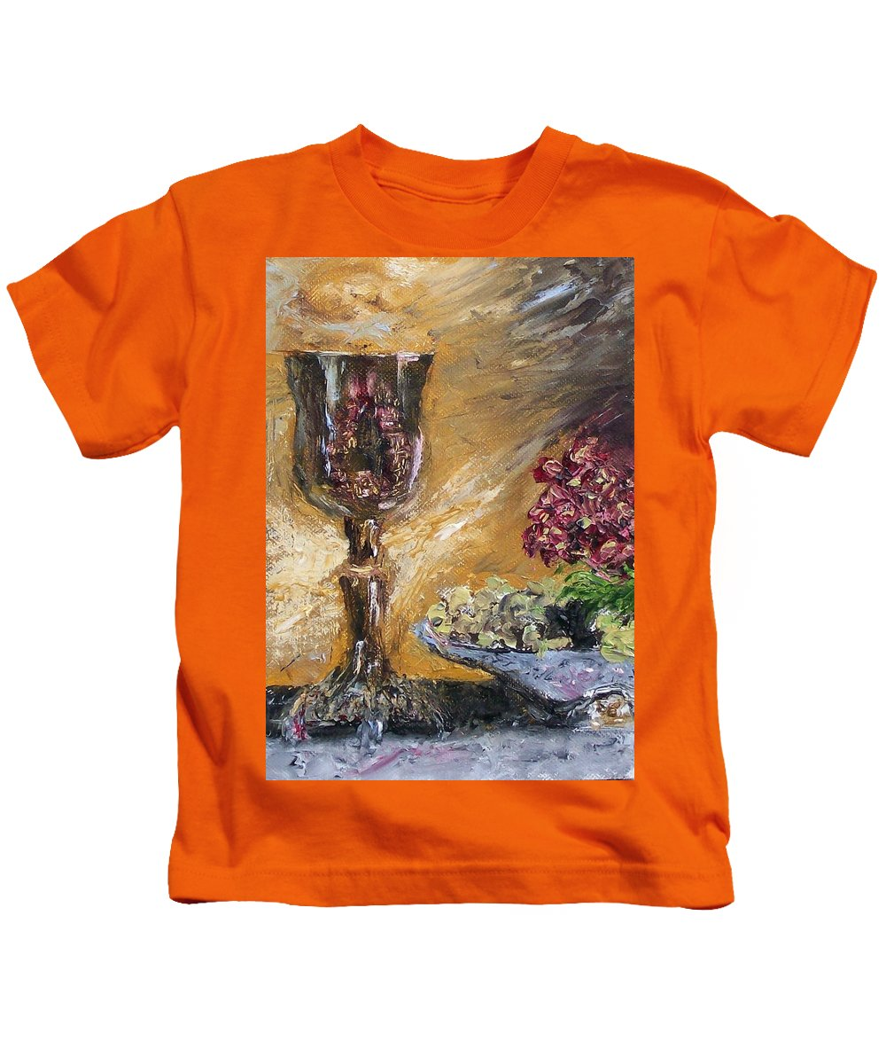 Kids T-Shirt featuring the painting Goblet by Stephen King