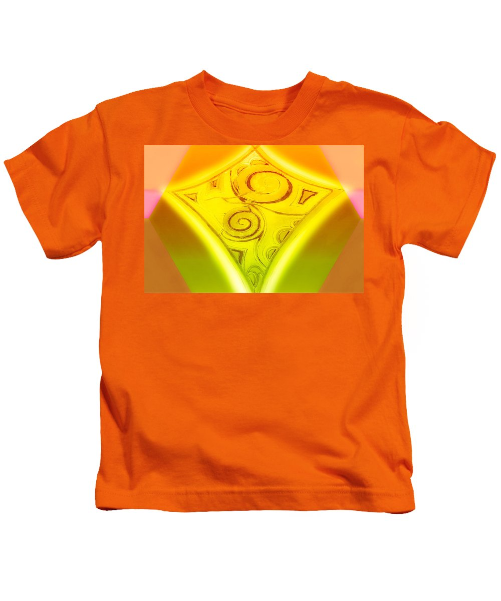 Gold Diamond Kids T-Shirt featuring the digital art Gold Diamond by Sheree Kennedy