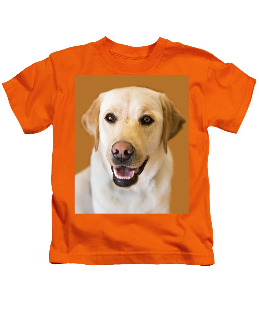 Lab Kids T-Shirt featuring the photograph Golden Lab by Marilyn Hunt