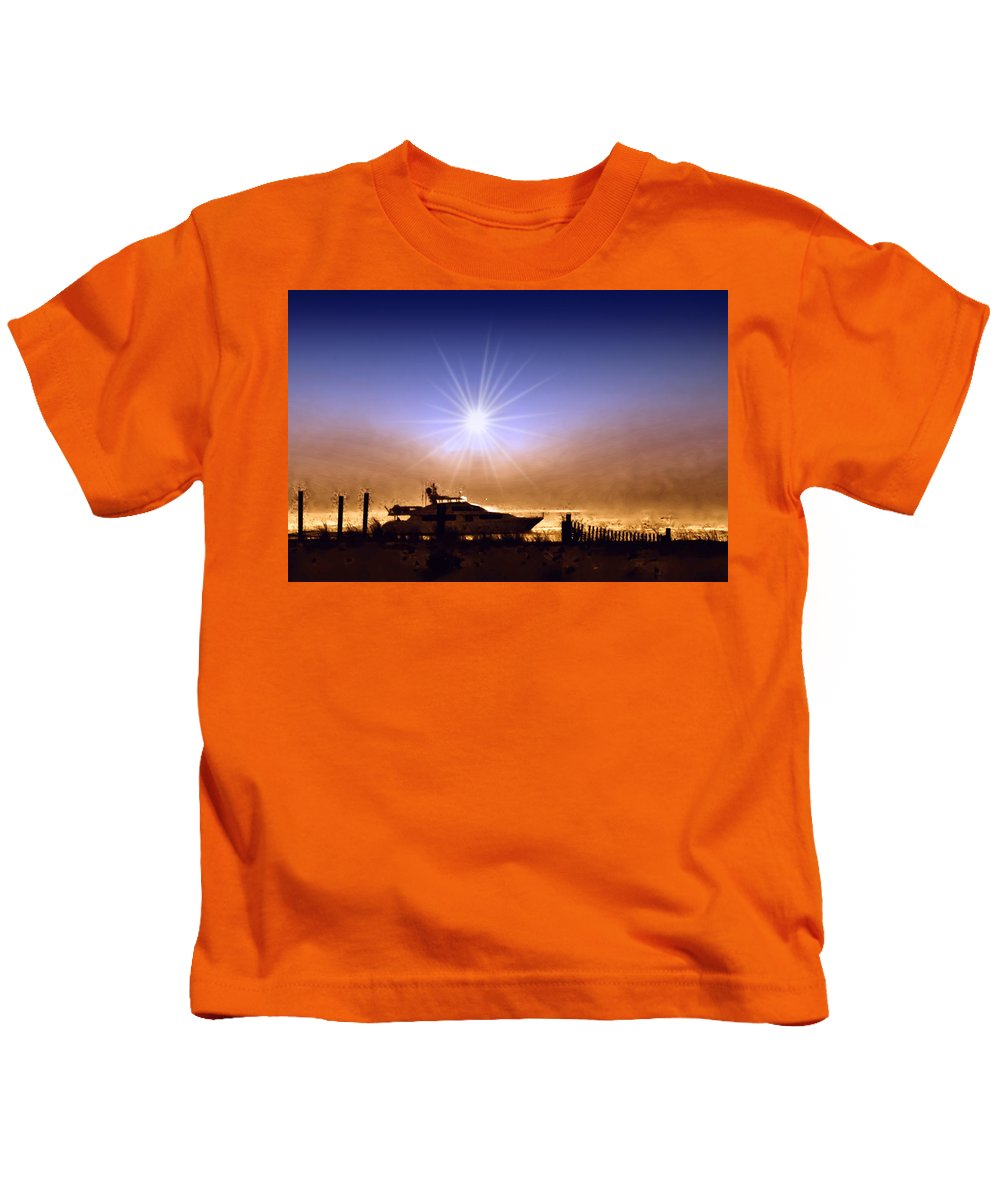 Fishing Kids T-Shirt featuring the photograph Gone Fishin by Bill Cannon