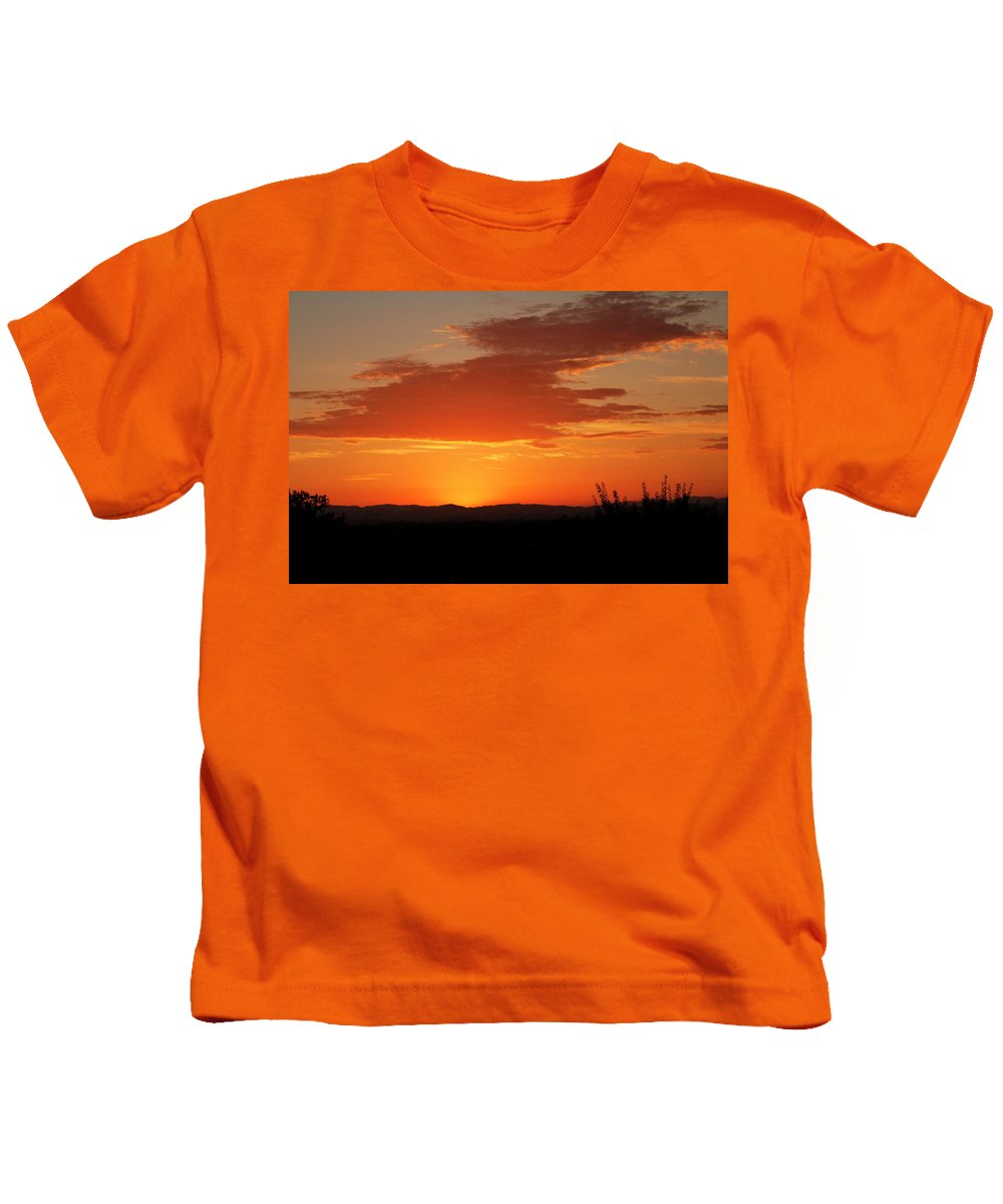 Sunset Kids T-Shirt featuring the photograph Gray Clouds Aren't Bringing Me Down by Pauline Darrow