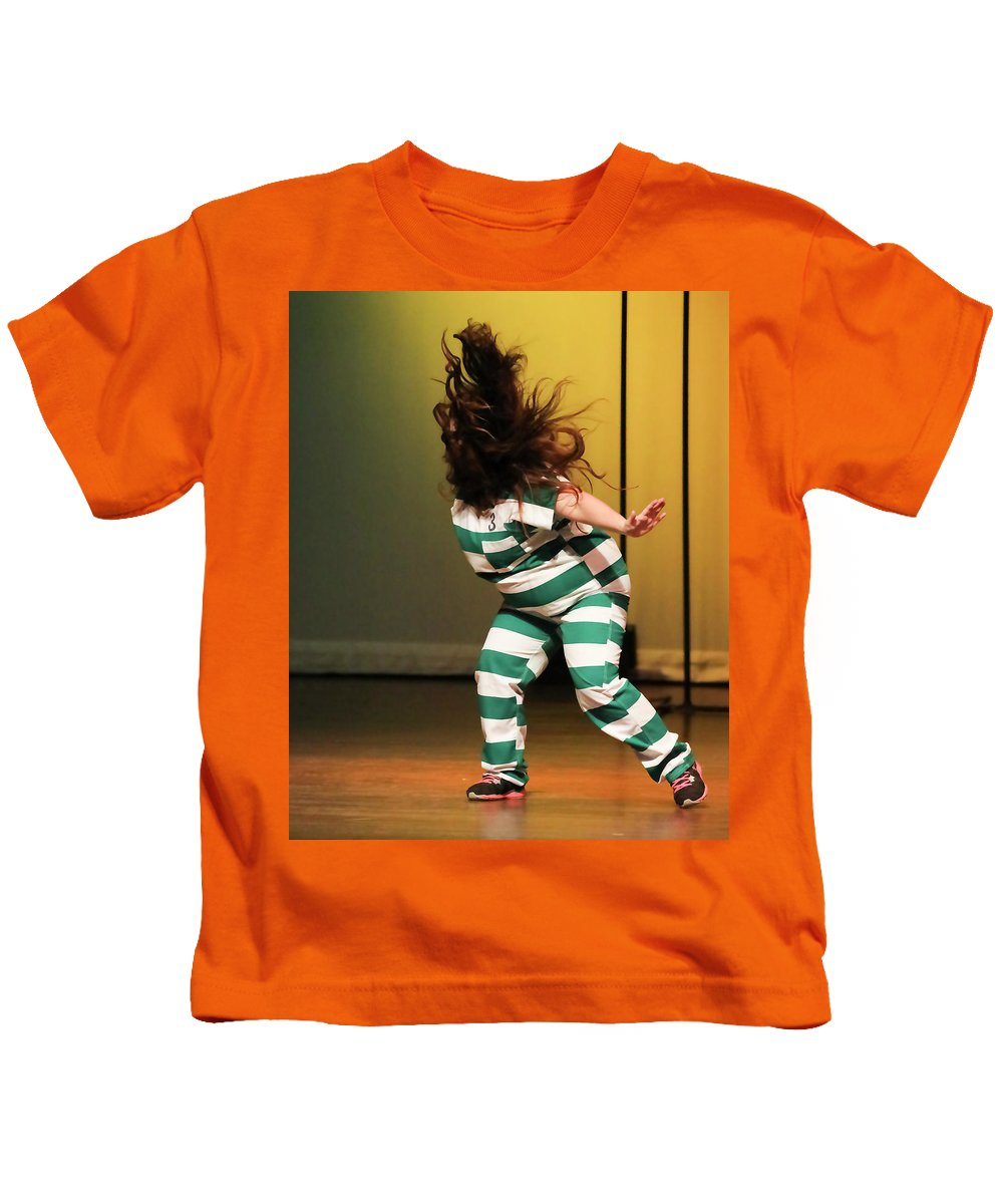 People Kids T-Shirt featuring the photograph Hair Fly by Leigh Lofgren