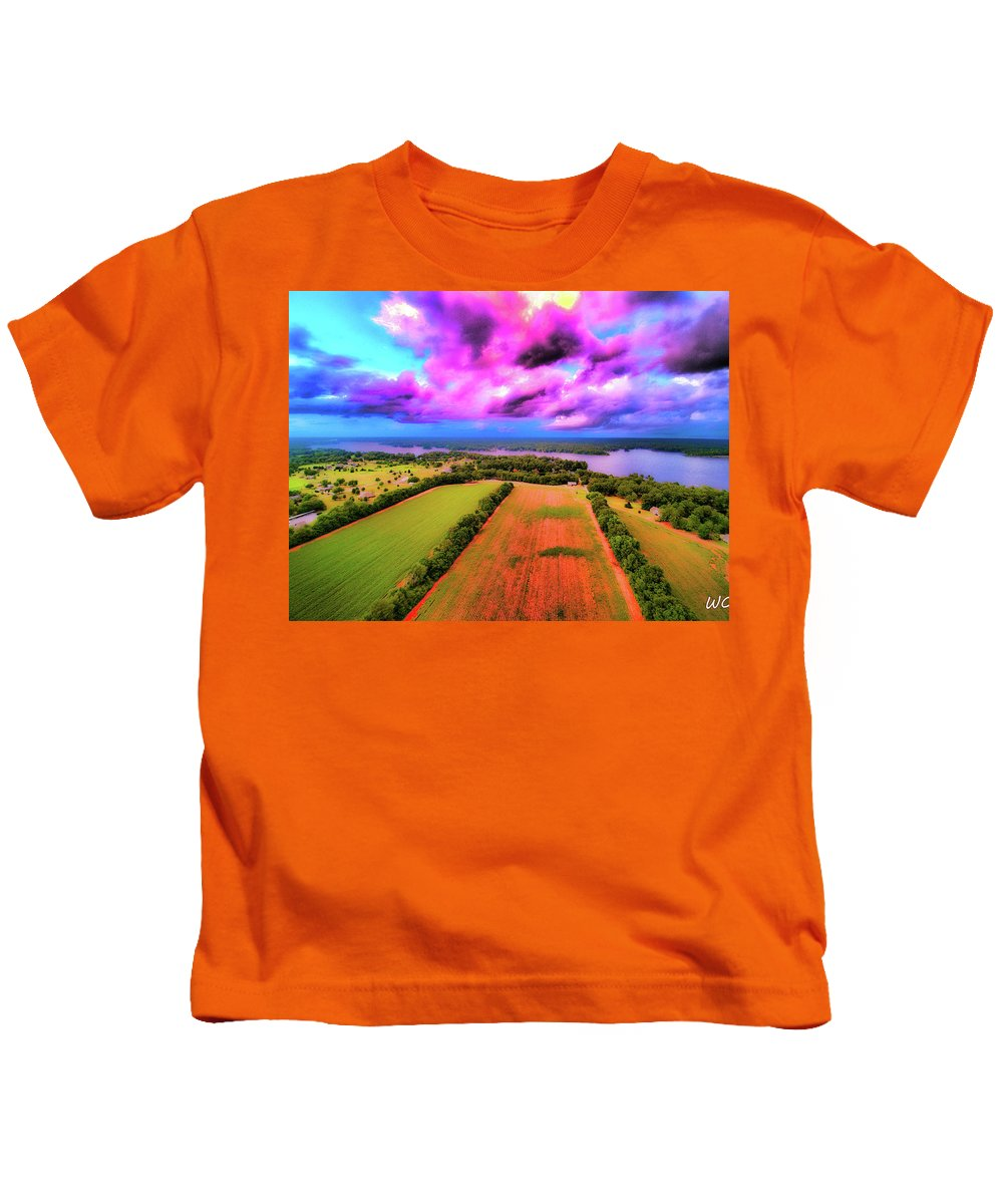 Lake Jordan Kids T-Shirt featuring the photograph Hand Of God by Dax Whitaker