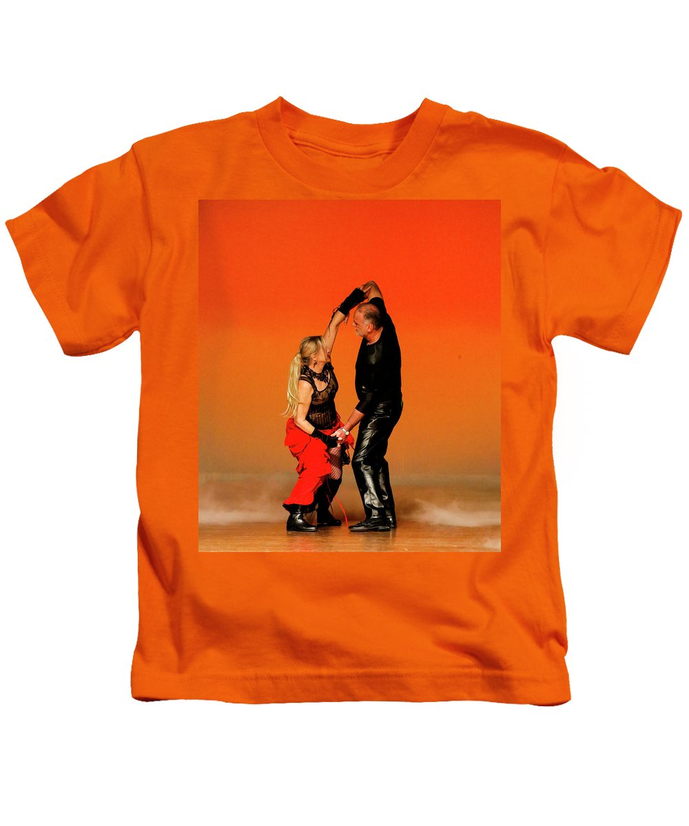 People Kids T-Shirt featuring the photograph Hands Up by Leigh Lofgren