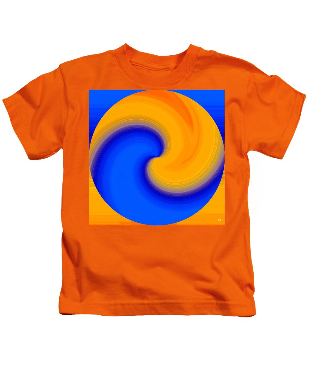 Abstract Kids T-Shirt featuring the digital art Harmony 23 by Will Borden