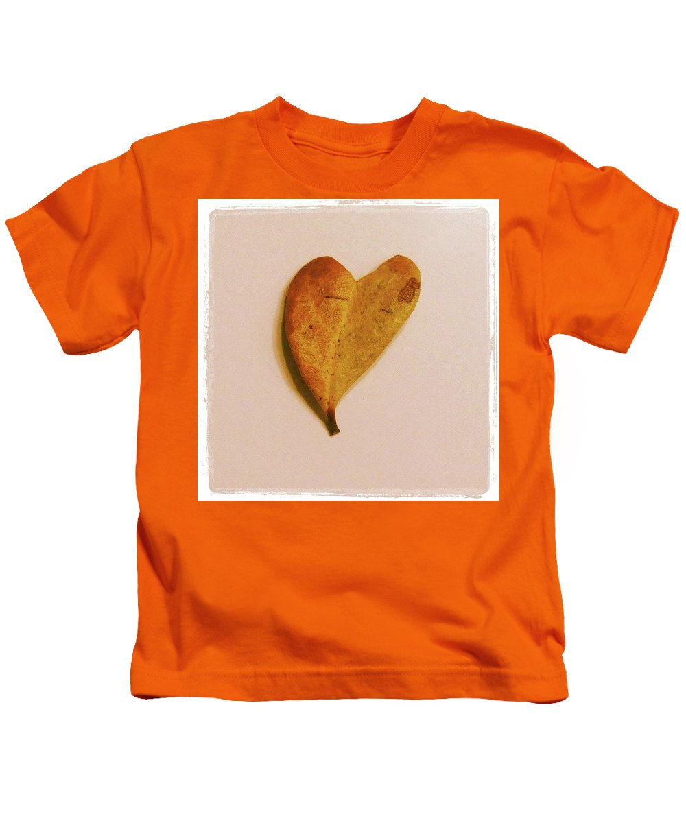 Heart Kids T-Shirt featuring the photograph Heart Leaf by Claire Kenney