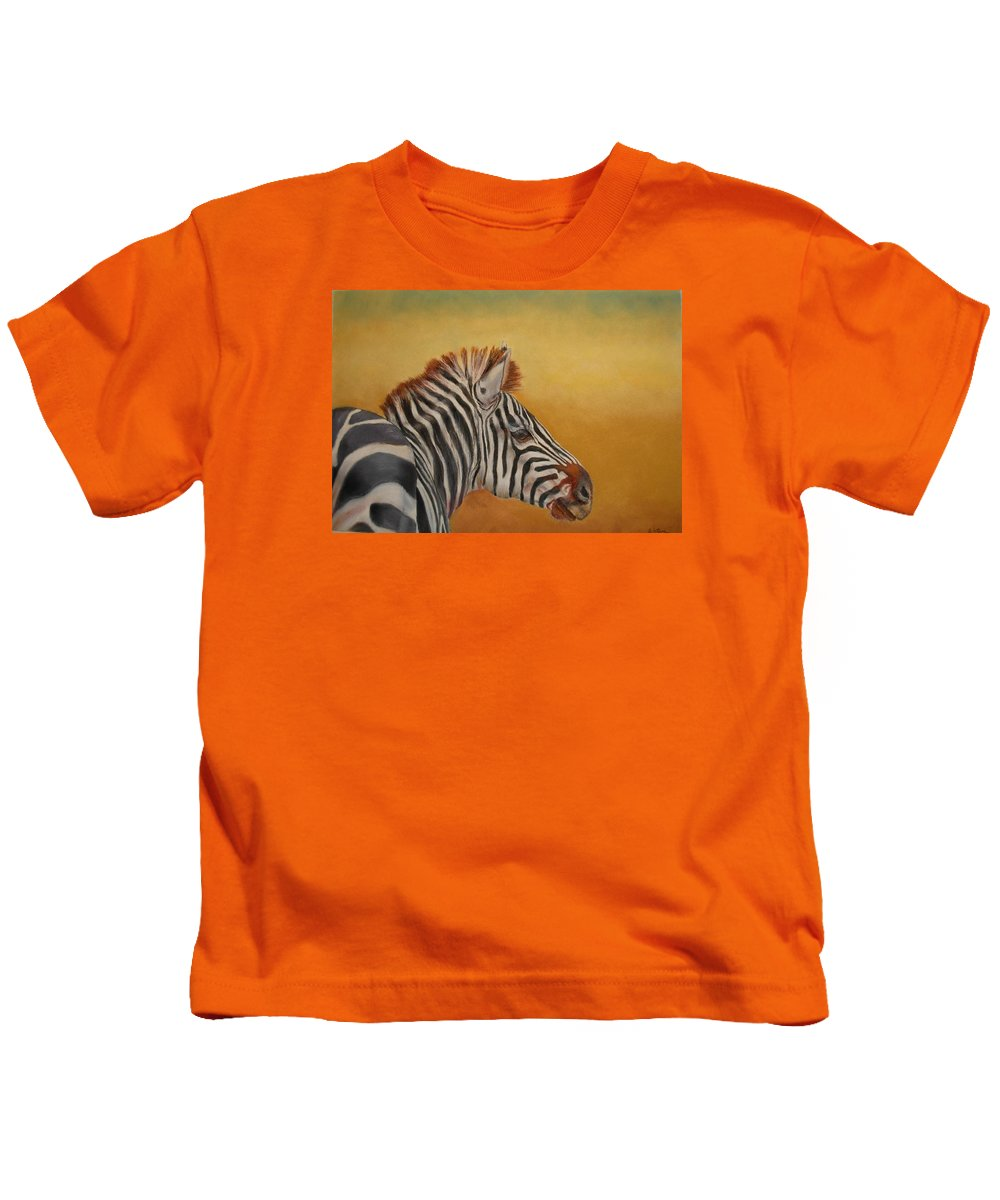 Africa Kids T-Shirt featuring the painting Hello Africa by Ceci Watson