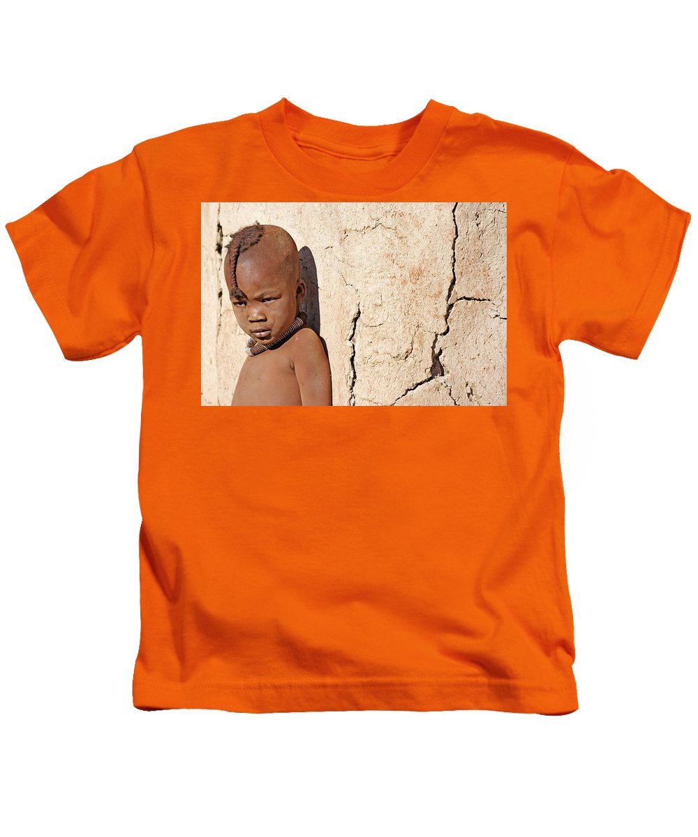 Child Kids T-Shirt featuring the photograph Himba Boy by Aivar Mikko