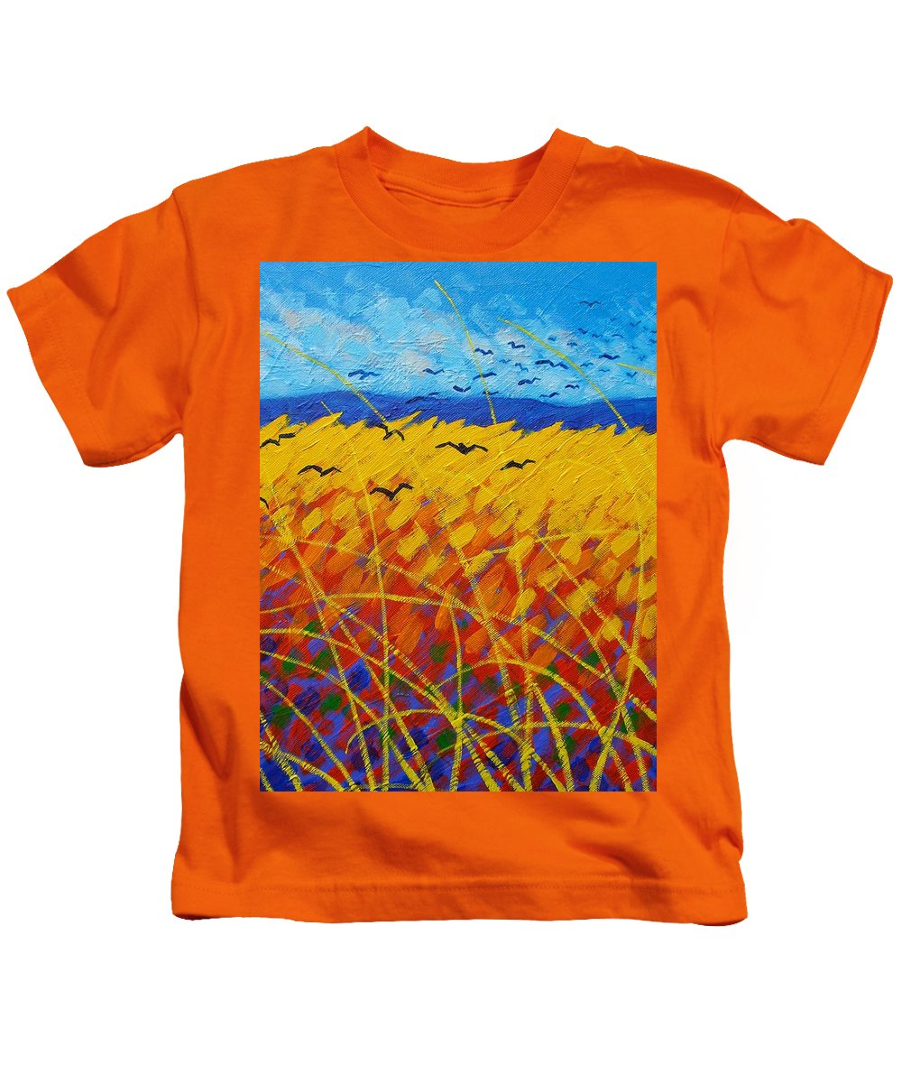 Vincent Van Gogh Kids T-Shirt featuring the painting Homage To Vincent by John Nolan