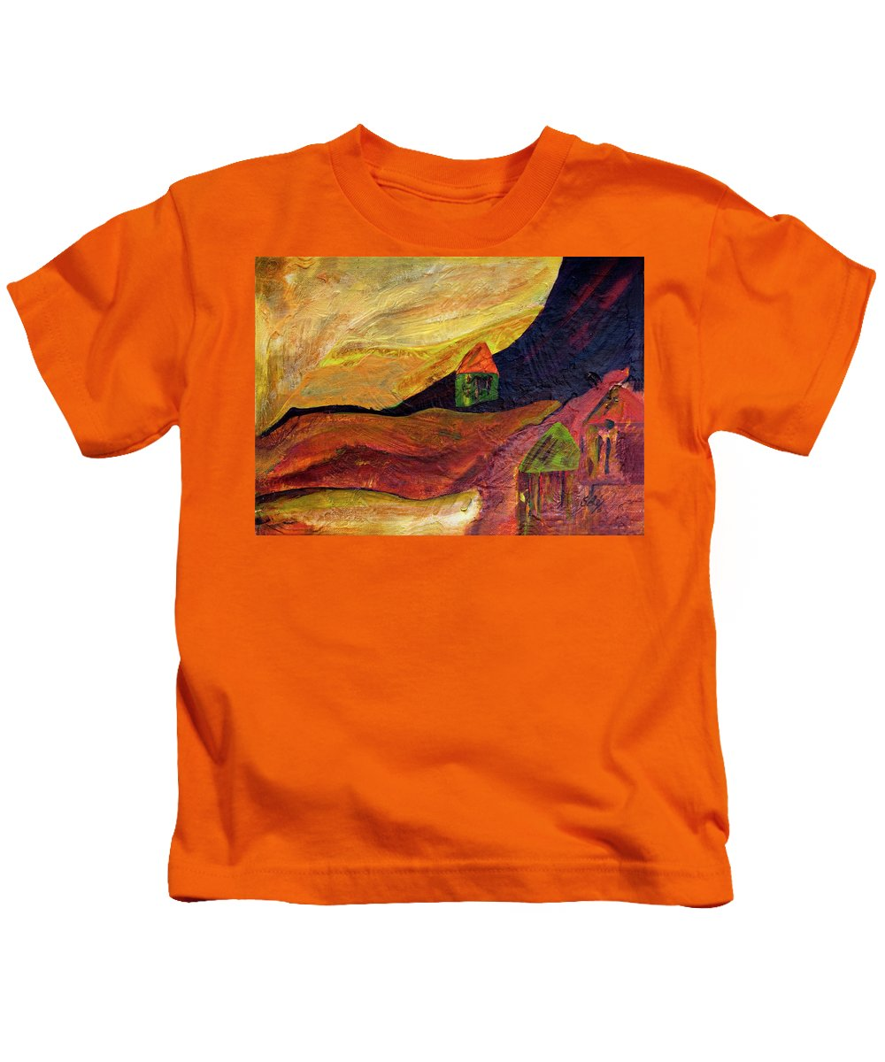 Hilltop Kids T-Shirt featuring the painting Home by Sole Avaria
