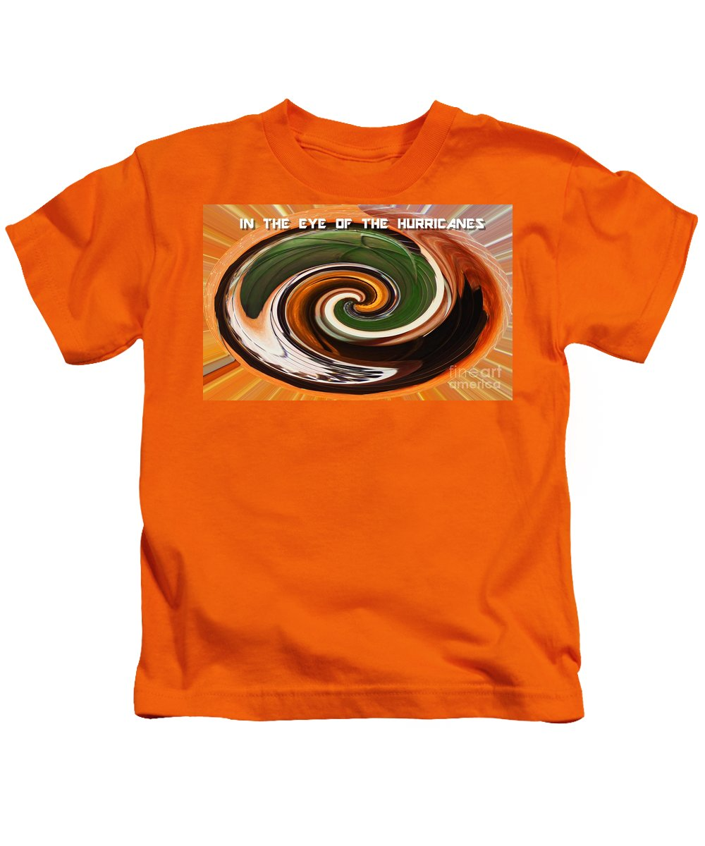 Abstract Kids T-Shirt featuring the mixed media In The Eye Of The Hurricanes by Sharon Eng