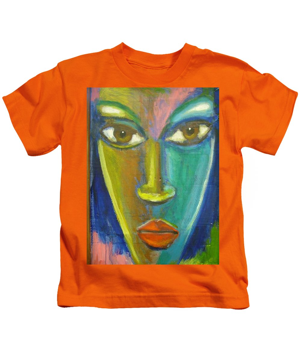 Painting Kids T-Shirt featuring the painting Intensity by Jan Gilmore