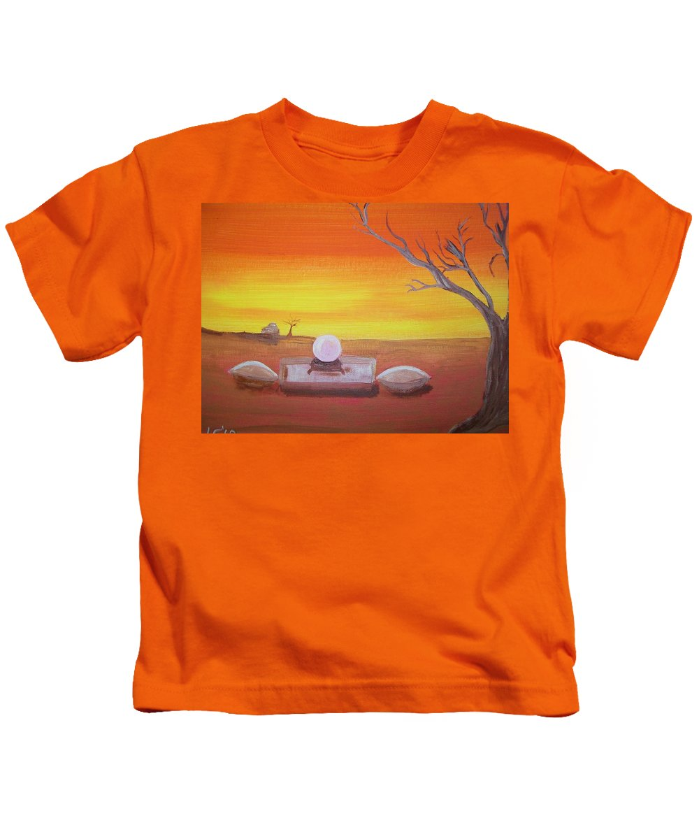 Yellow Kids T-Shirt featuring the painting Ive Seen Enough by Laurette Escobar