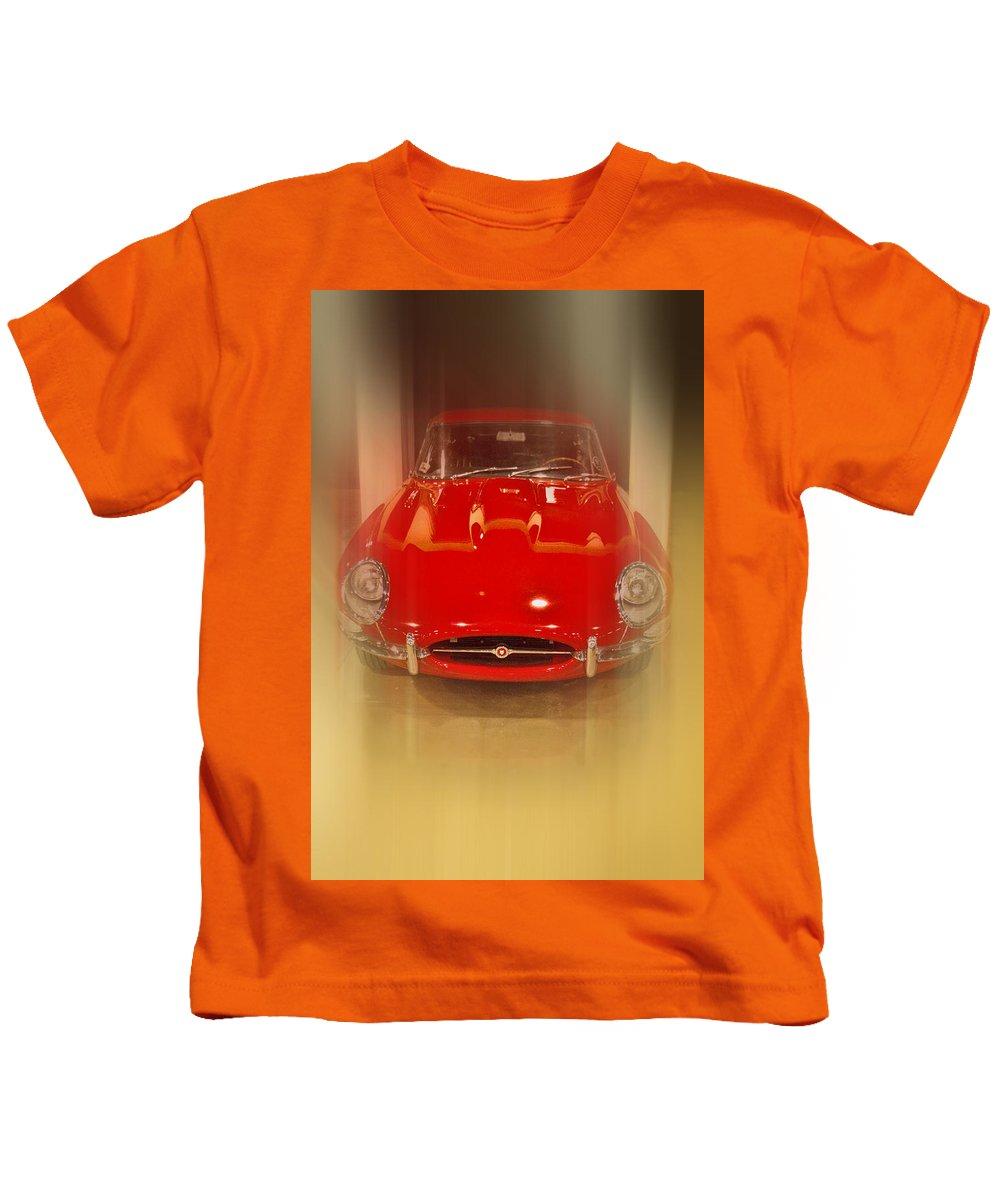 Jaguar E-type 1960s Kids T-Shirt featuring the photograph Jaguar E-type 1960s by Douglas Barnard