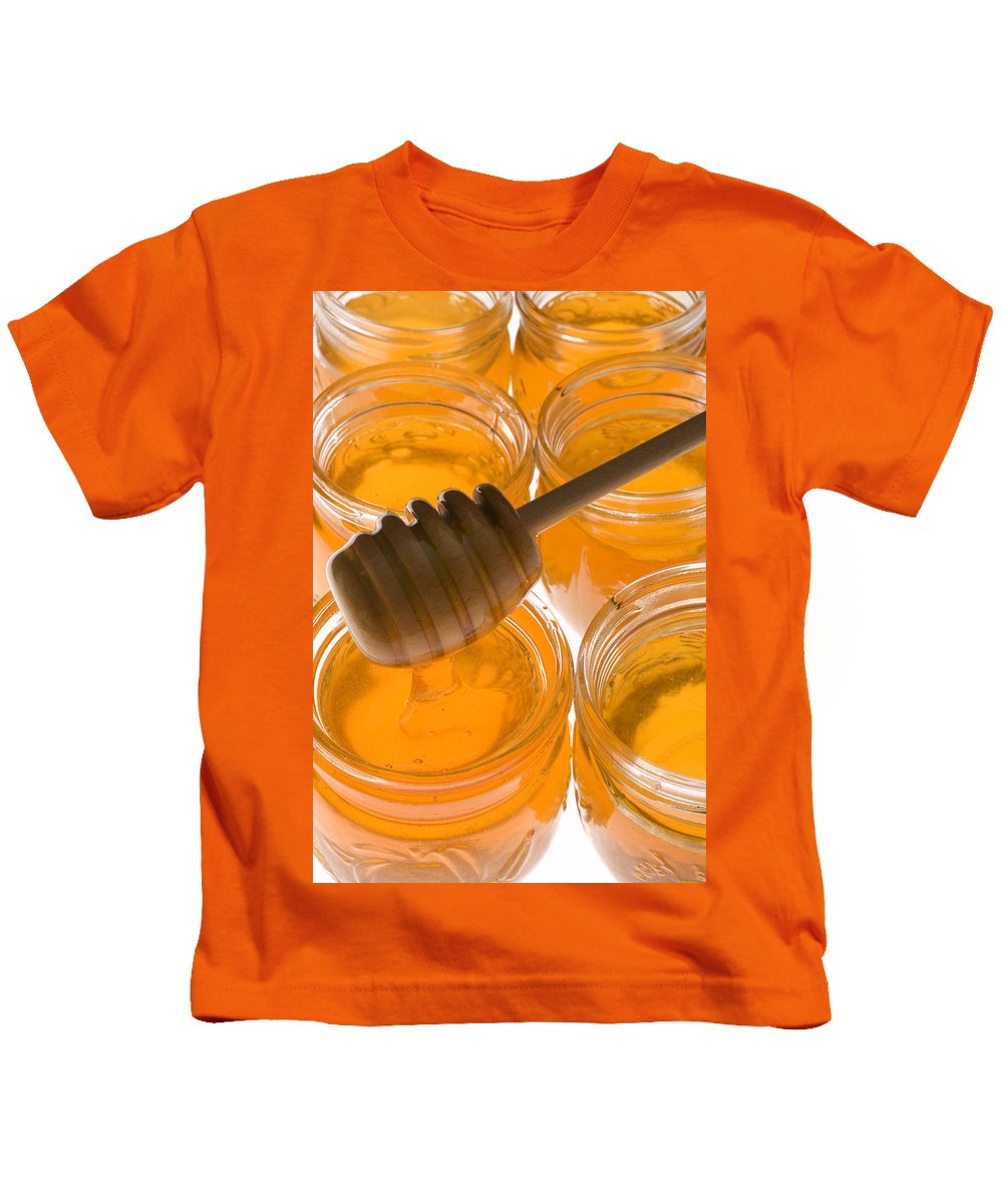 Honey Kids T-Shirt featuring the photograph Jarrs Of Honey by Garry Gay