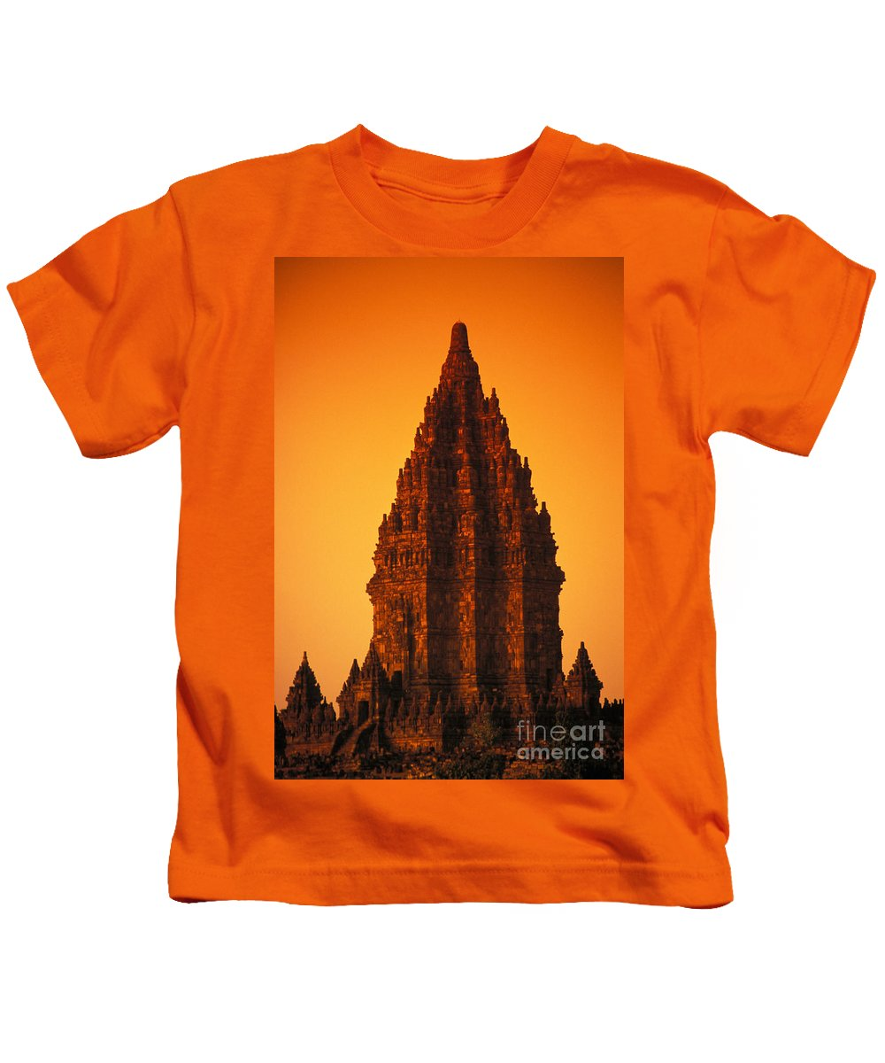 Ancient Kids T-Shirt featuring the photograph Java, Prambanan by Gloria & Richard Maschmeyer - Printscapes