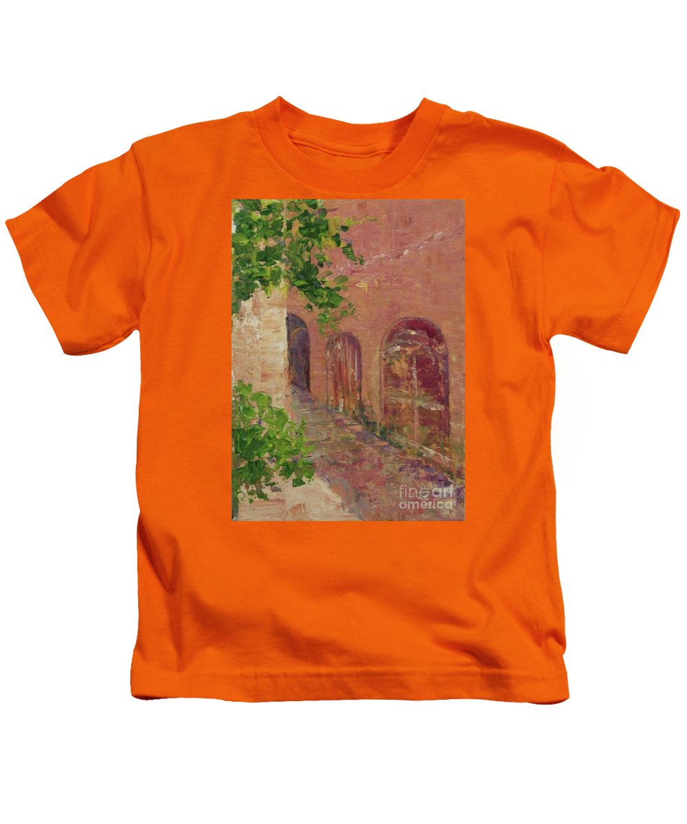Nature Kids T-Shirt featuring the painting Jerusalem Alleyway by Gail Kent