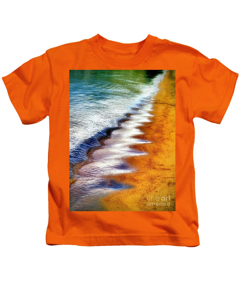 Waves Kids T-Shirt featuring the photograph July 3 2010 by Tara Turner