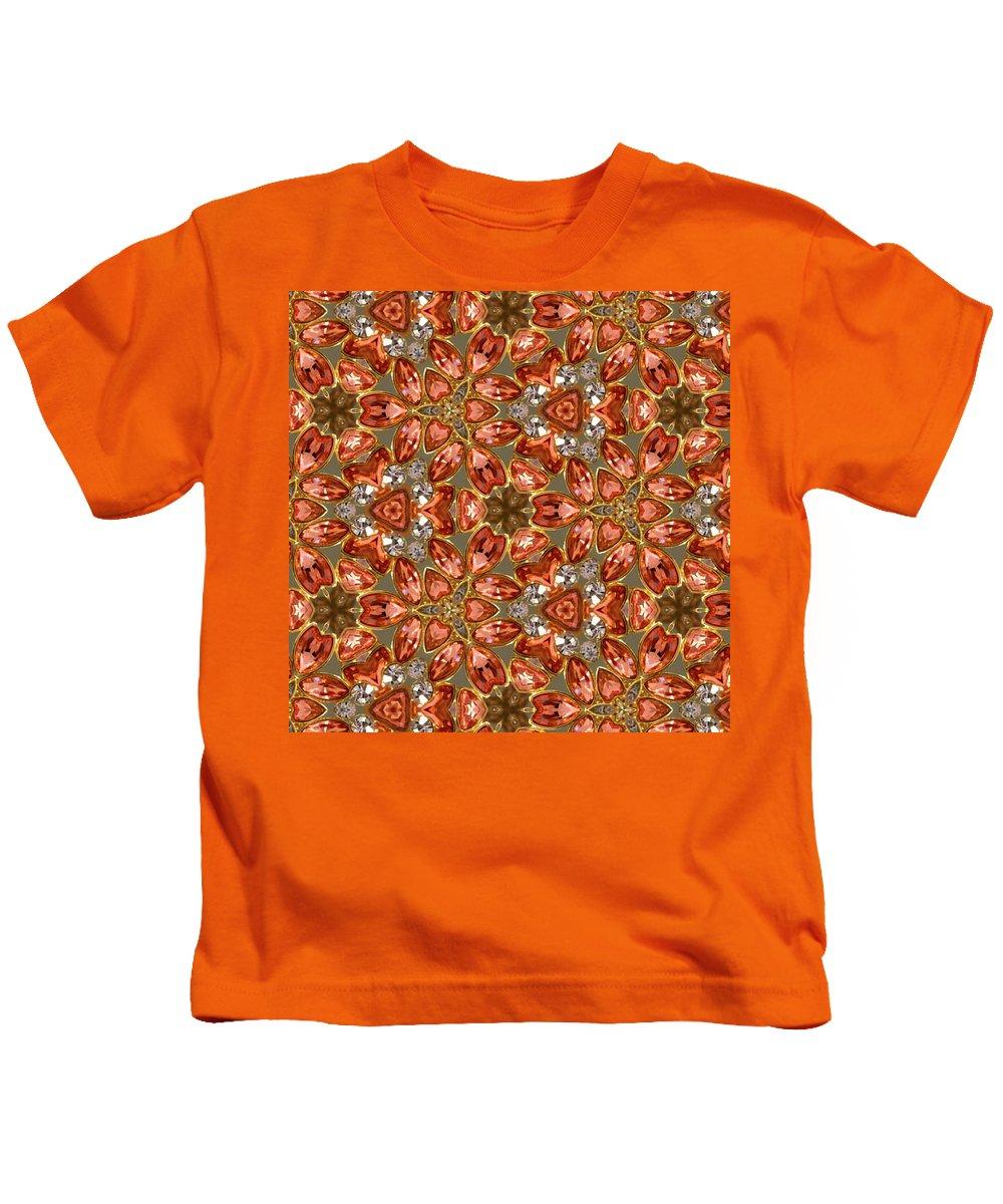 Digital Kaleidoscopes Kids T-Shirt featuring the photograph Kaleidoscopes- 07 by David Lange