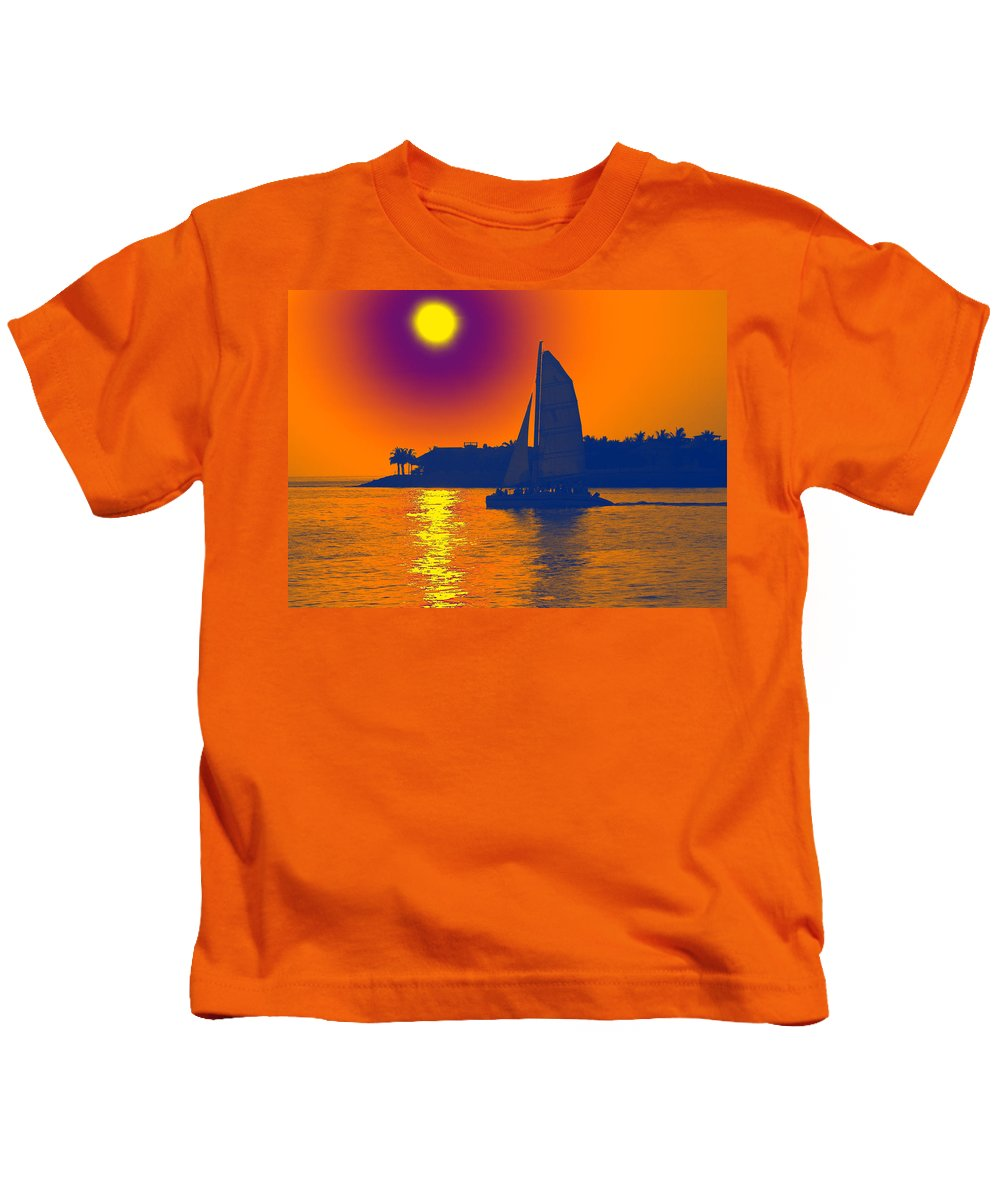 Key West Kids T-Shirt featuring the photograph Key West Passion by Steven Sparks