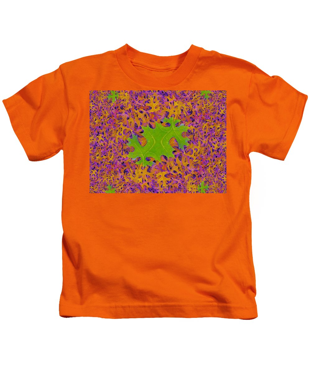 Leaves Kids T-Shirt featuring the photograph Leaves In Fractal 2 by Tim Allen