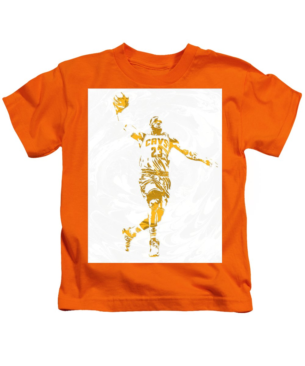 eb67f44a4eec Lebron James Kids T-Shirt featuring the mixed media Lebron James Cleveland  Cavaliers Pixel Art