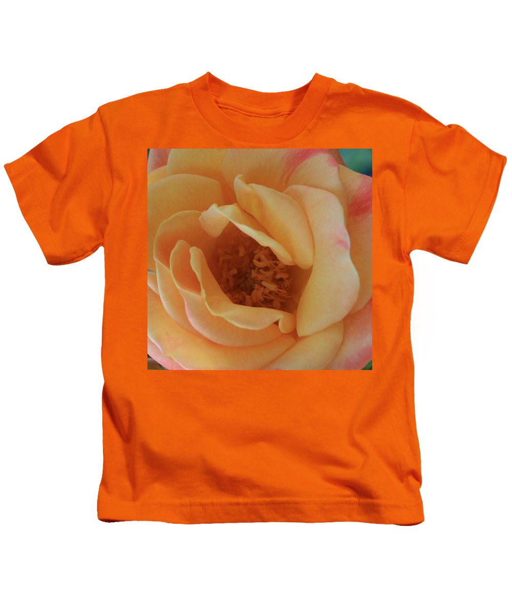 Lemon Kids T-Shirt featuring the photograph Lemon Blush Rose by Marna Edwards Flavell