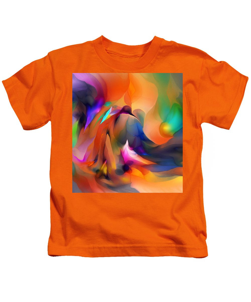 Fine Art Kids T-Shirt featuring the digital art Letting Go by David Lane