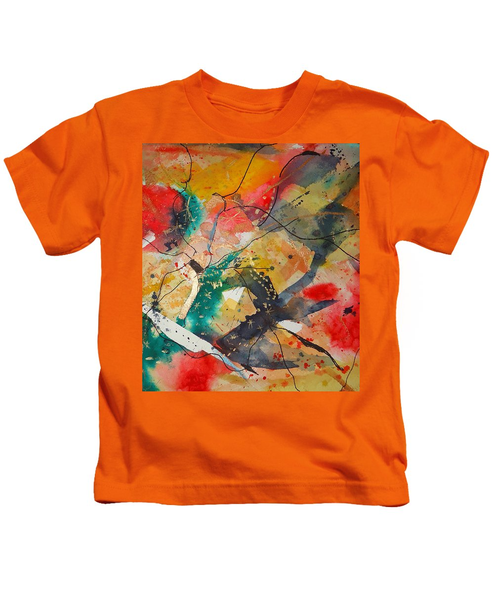 There Are Always Cracks In Life . Abstract Kids T-Shirt featuring the mixed media Lifes Little Cracks by Charme Curtin