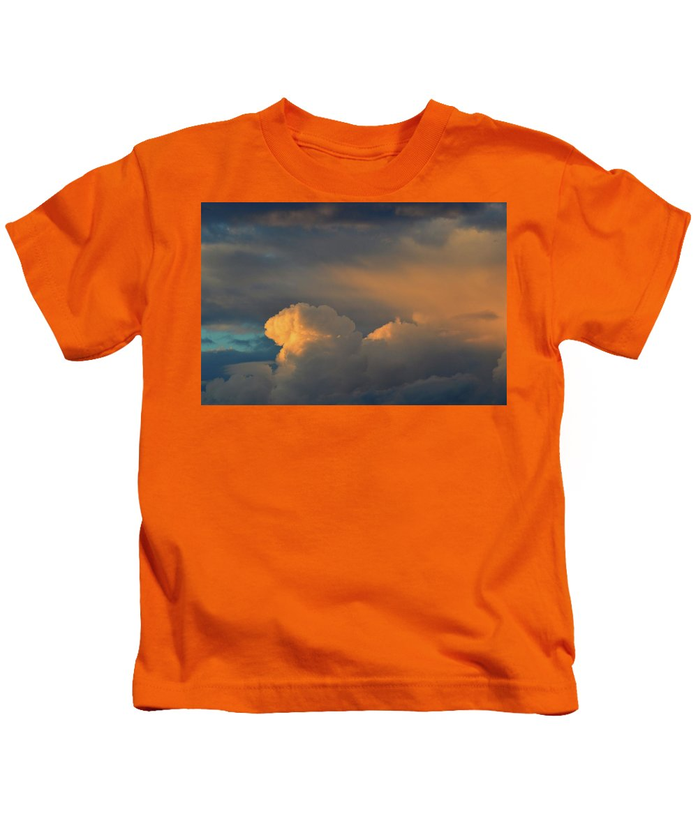 Clouds Kids T-Shirt featuring the photograph Light On The Clouds by Lyle Crump