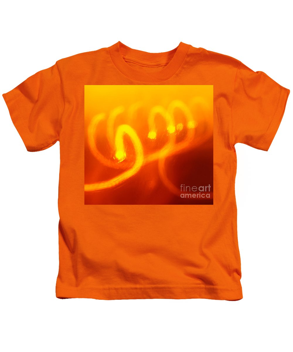 Abstract Kids T-Shirt featuring the photograph Light Trail Abstract by Gaspar Avila